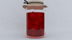 3D juice jar