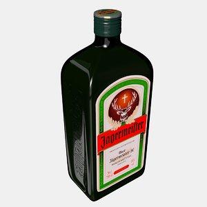 3D bottle jager model