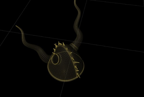 3D viking helmet model