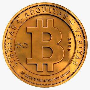 bitcoin coin bit 3D model