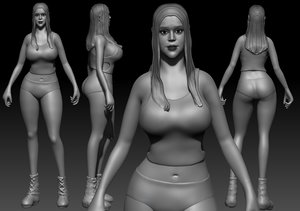 mujer chica girl 3D
