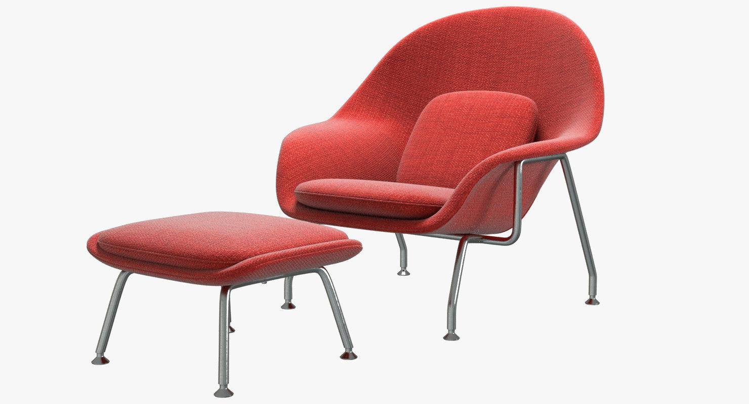 Knoll Saarinen Womb Chair Mit Ottoman