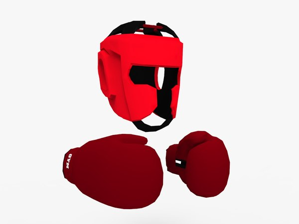 boxing gloves protection 3D model