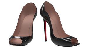 s heel shoes 3D