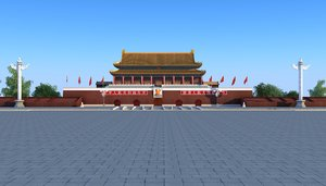 3D model tiananmen building