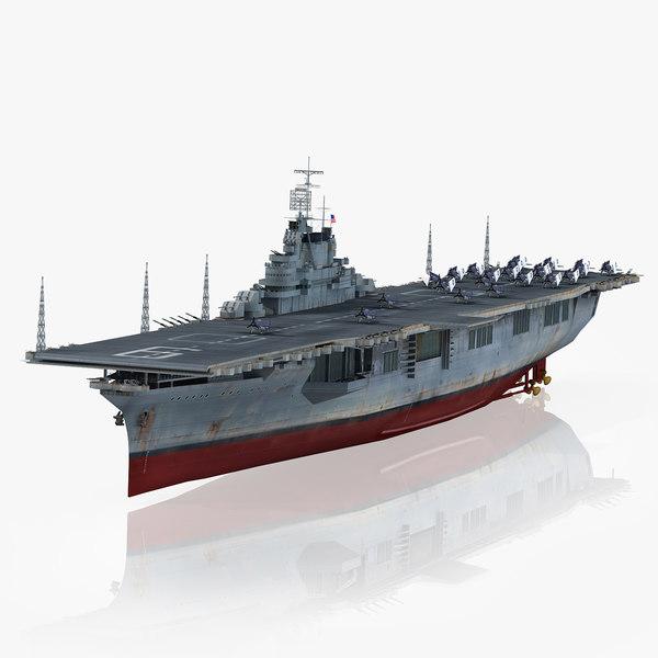uss essex cv-9 cv model