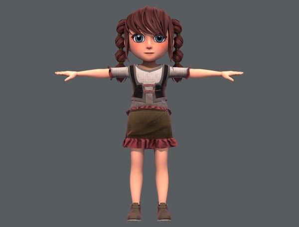 3D base girlv03 clothing v01