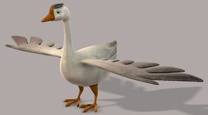 3D duck v01 cartoon animal