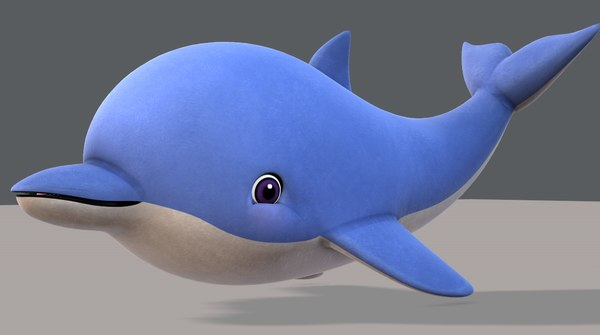 dolphin v01 cartoon animal model