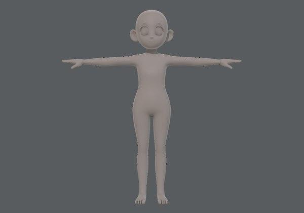 3D base mesh girl characterv12 model