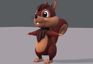squirrel v02 cartoon animal 3D model