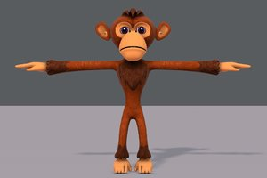 monkey v02 cartoon animal model