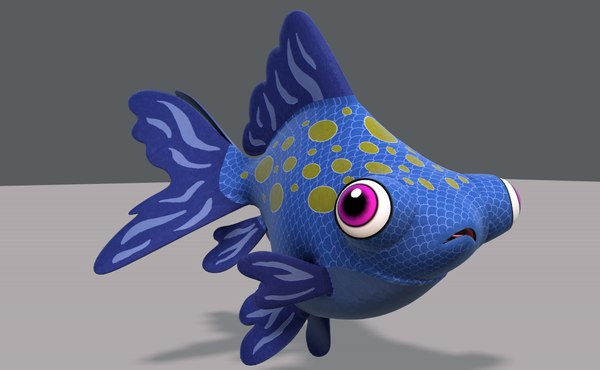 fish v02 cartoon animal model