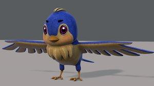 3D model bird v01