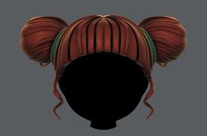 3D hair style girl v68