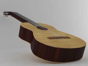 klasik gitar 3D model