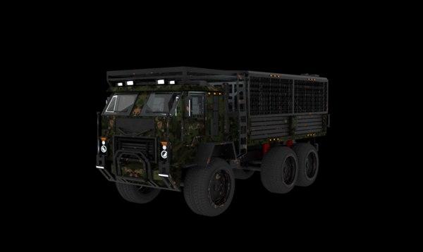 kamaz-53501 kamaz military 3D model