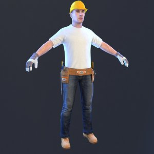 handyman man 3D model