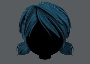 hair style girl v55 3D model