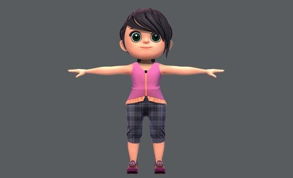 3D base girlv05 clothing v01