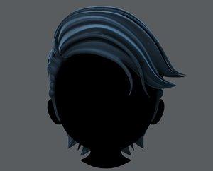 hair style boy v52 3D model