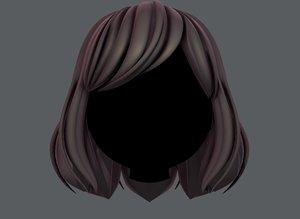 hair style girl v57 3D model