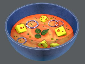 3D soup01 food model