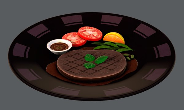 3D steak01 food