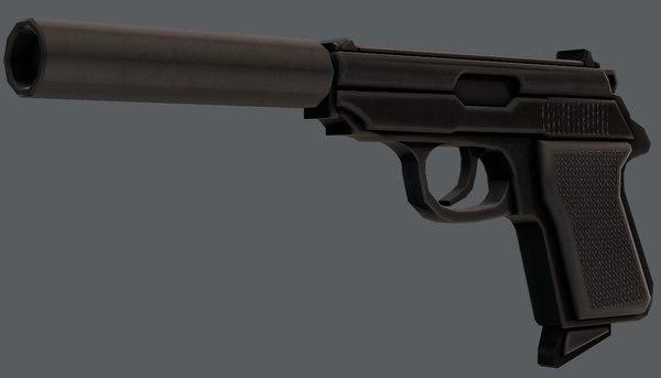 gun 01 3D model