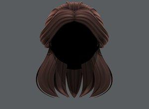 3D hair style girl v61