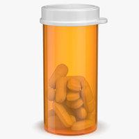 3D prescription pill bottle