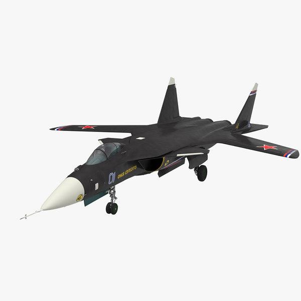 su-47 berkut jet fighter 3D