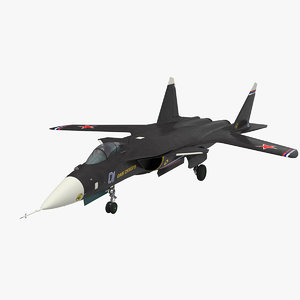 su-47 berkut jet fighter 3D