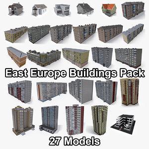pack east europe buildings 3D model