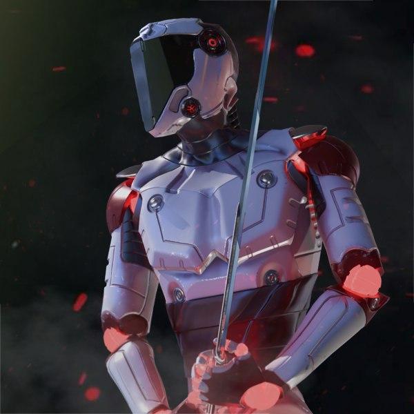 sci-fi robot model