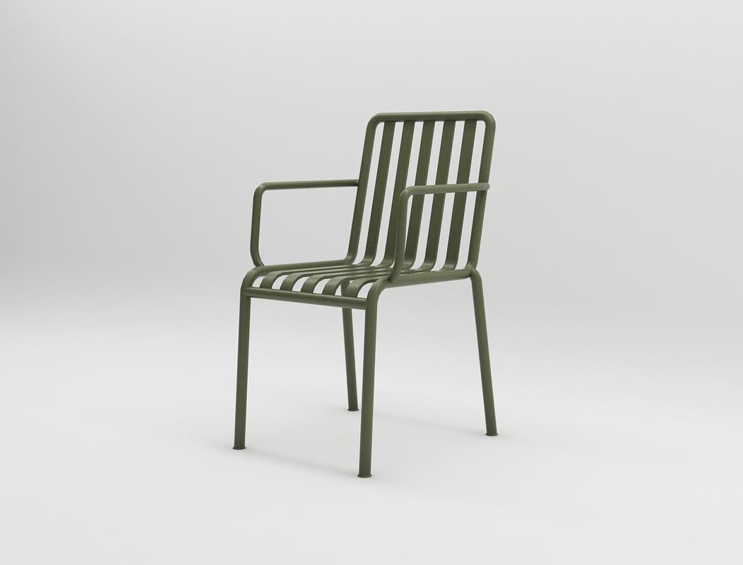 palissade arm chair design 3D model