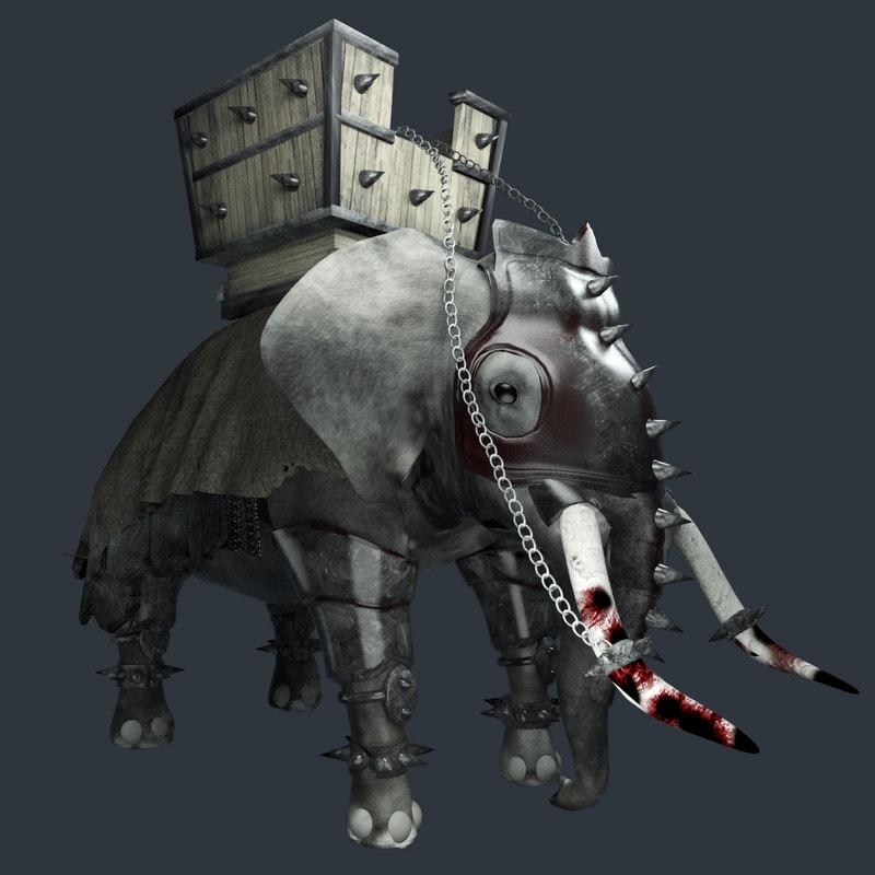 war elephant 3D model