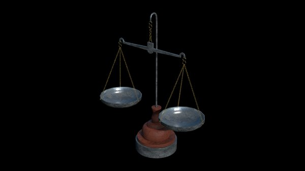 old scale 3D model