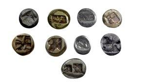 coin ancient 3D model