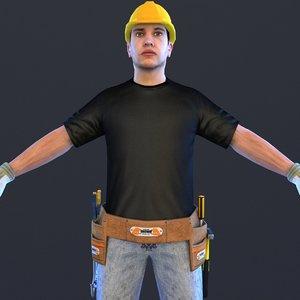 3D handyman man