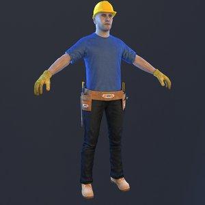 handyman man 3D model