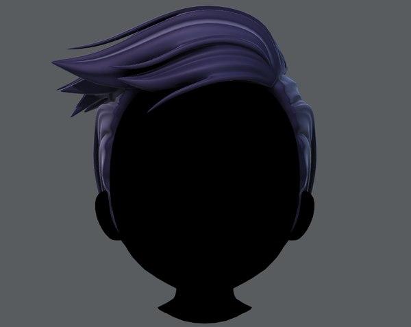 hair style boy v46 3D model