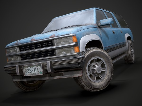 3D model old suv car