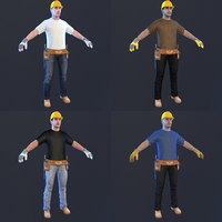 pack man helmet 3D model