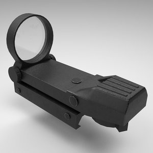 3D rifle gun red dot model