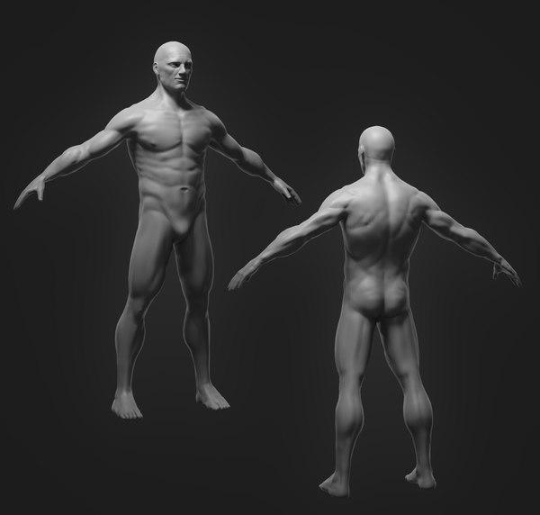 3D male model