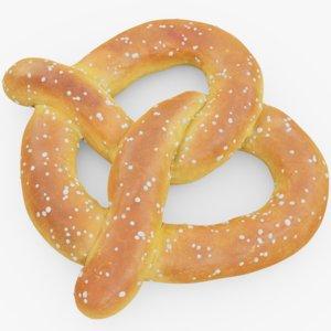 3D pretzel food snack model