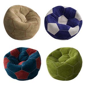 3D model bag set ball