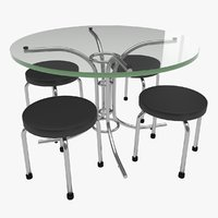 Round Glass Table Set