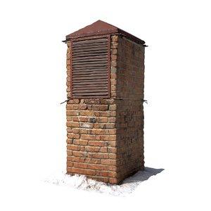 brick ventilation column scan 3D
